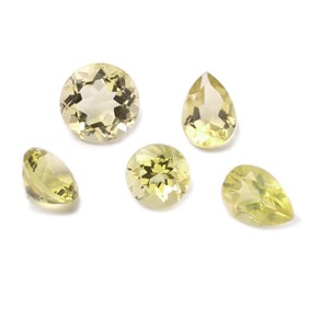 Lemon Citrine Faceted Stones, approx 10x7mm Teardrop