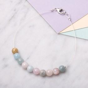 Morganite & Aquamarine Bead Bracelet