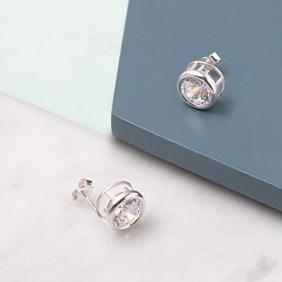 Cubic Zirconia Backset Earrings