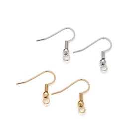 Plated Shepherds Crook Earwires (Pack of 10 Pairs)