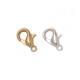 Plated Small Carabiner Lobster Clasps (Pack of 10)