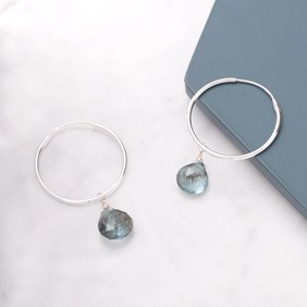 Moss Aquamarine Briolette Earrings