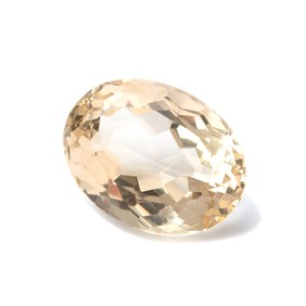 Citrine Oval Faceted Stones, 24.5x18.5mm