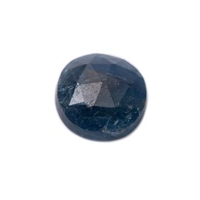 Sapphire Rose Cut Freeform Slice, Approx 9x8.5mm