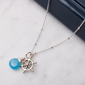 Nautical Ships Wheel Necklace