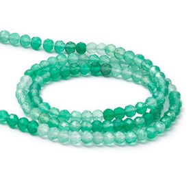 Green Onyx Faceted Rondelle Beads, Approx 3x2.5mm