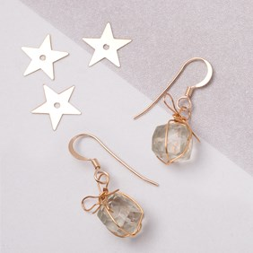 Green Amethyst Cube Bead Present Earrings