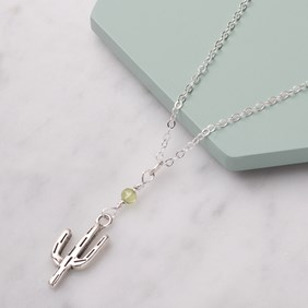 Cactus & Peridot Necklace