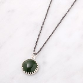 Sparkly Nephrite Jade Necklace