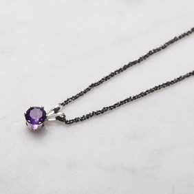 African Amethyst Snaptite Necklace