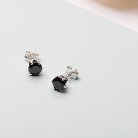 Black Cubic Zirconia Snaptite Earrings