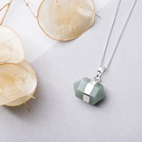 Green Aventurine Double Point Pendant