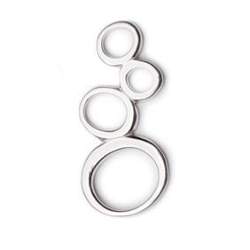 Sterling Silver 4-Hoop Organic Connector Link