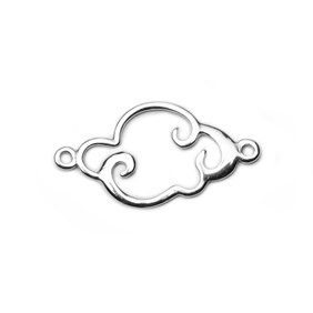 Sterling Silver Cloud Connector Link