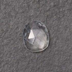 Rainbow Moonstone Rose Cut Freeform Slice, Approx 10x8.5mm