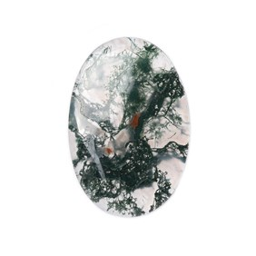 Green Moss Agate Oval Shape Flat Plate Cabochon, Approx 30x20mm