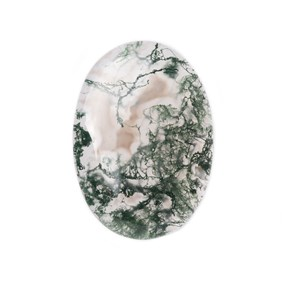 Green Moss Agate Oval Shape Flat Plate Cabochon, Approx 31x22mm
