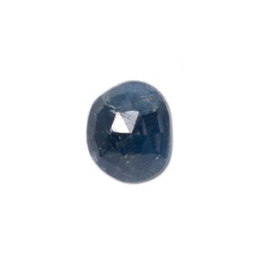 Sapphire Rose Cut Freeform Slice, Approx 9.5x8mm