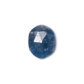 Sapphire Rose Cut Freeform Slice, Approx 8.5x7mm