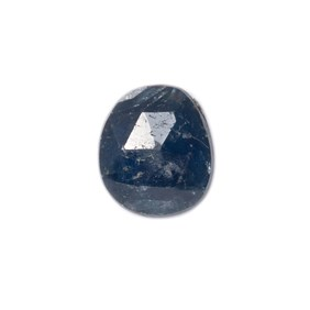 Sapphire Rose Cut Freeform Slice, Approx 9.5x8.5mm