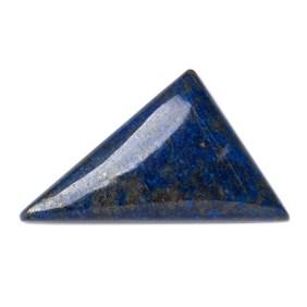 Lapis Lazuli Triangular Flat Plate, Approx 34x20mm