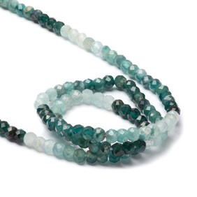 Grandidierite Shaded Micro Faceted Rondelle Beads, Approx 2-3mm