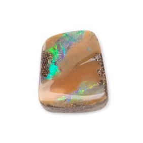 Freeform Australian Boulder Opal, Approx 12.5x11mm