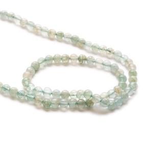 Aquamarine Round Beads, 3-5mm