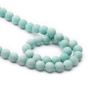 Amazonite Frosted Round Beads