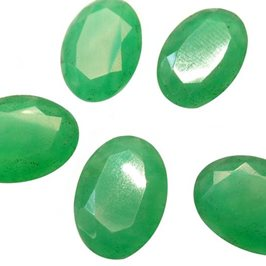 Green Aventurine Oval Faceted Stones