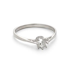 Sterling Silver Ring for 4mm Round Faceted Stone