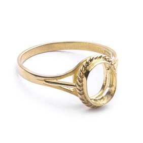 9ct Gold Ring for 8x6mm Oval Cabochon Stone