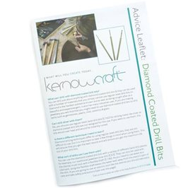 Using Diamond Coated Drill Bits Leaflet - Kernowcraft