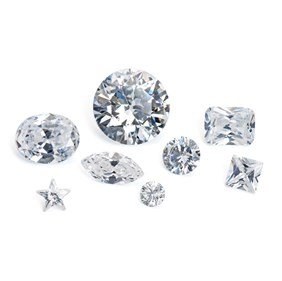 Cubic Zirconia Faceted Stones