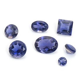Iolite Faceted Stones