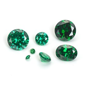 Emerald Coloured Cubic Zirconia Faceted Stones