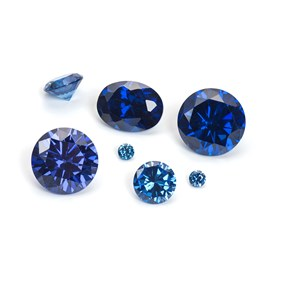Sapphire Coloured Cubic Zirconia Faceted Stones