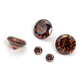 Coffee Coloured Cubic Zirconia Faceted Stones