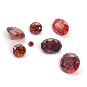 Garnet Coloured Cubic Zirconia Faceted Stones