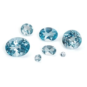 Sky Blue Topaz Faceted Stones