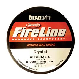 Fireline Braided Bead Thread, 0.2mm Crystal Clear