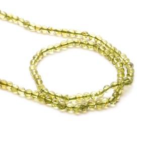Peridot Round Beads, 3.5-4.5mm