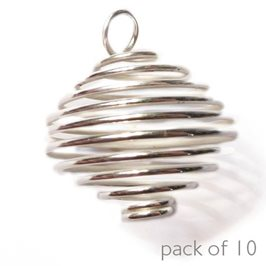 Silver Plated Large Spiral Pendant (Pack of 10)