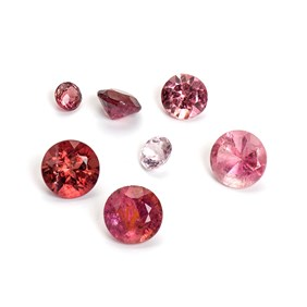 Pink Tourmaline Faceted Stones