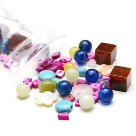 'Focal Pick and Mix' Gemstone Bead Pack - 60 grams