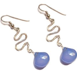 Silver Stream Drop Earrings