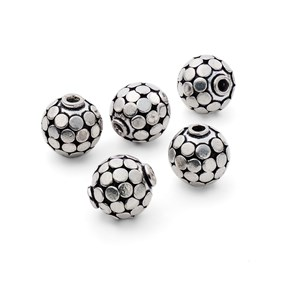 Silver Plated Disco Ball Beads, Approx 15mm