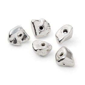 Sterling Silver Nugget Beads
