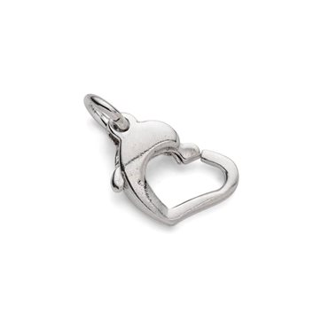 Sterling Silver Heart Shape Carabiner Lobster Clasp
