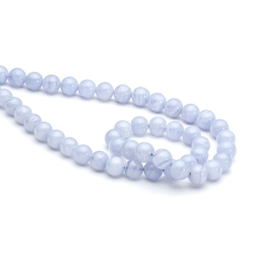 Blue Lace Agate Round Beads